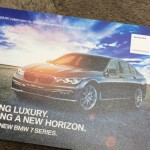 ディーラーからの年賀状。BMWは2016年3月で100周年!