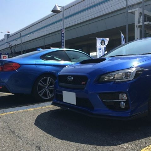with Impreza #bmw #f32 #msport #bimmer #bmwlove #estorilblue #bmwcoupe #impreza #インプレッサ #subaru #スバル - [Instagram]