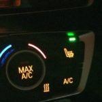 寒かったのでシートヒーターを使ってみました・・・