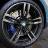 BMW M2クーペ[F87]のホイールを傷つけてしまいました。BMW新車延長保証で修理する予定。